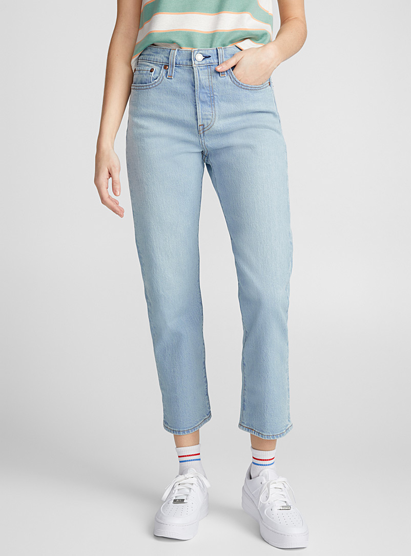 Levi's Slate Blue Wedgie straight high-rise jean for women