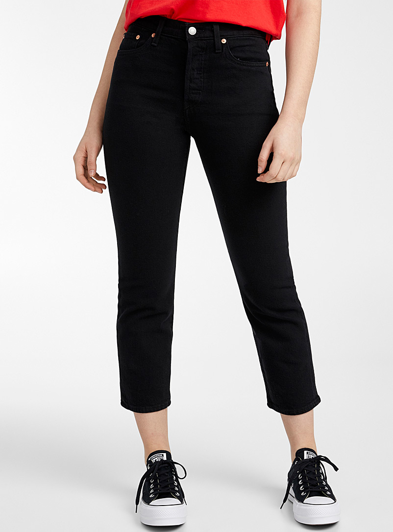 Levi's Black Wedgie straight high-rise jean for women