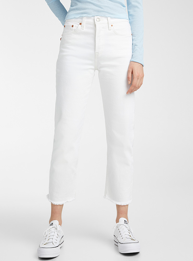 Levi's White Wedgie straight high-rise jean for women