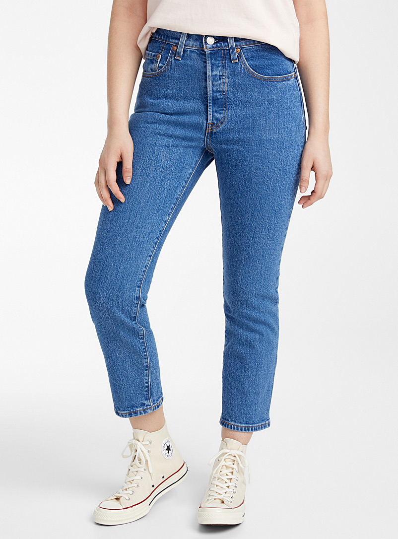 Levi's Sapphire Blue Blue 501 cropped jean for women