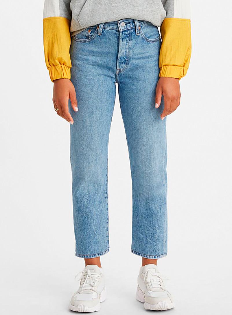 Levi's Sapphire Blue 501 Original cropped jean for women