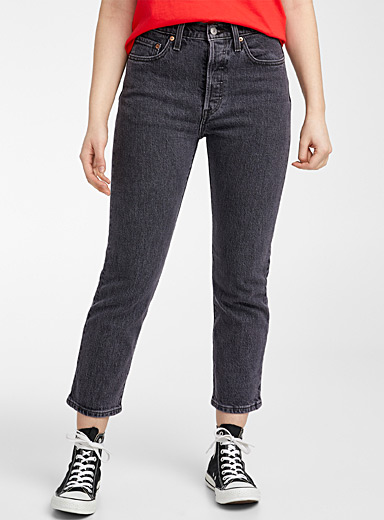 Levi's Oxford 501 faded black cropped jean for women