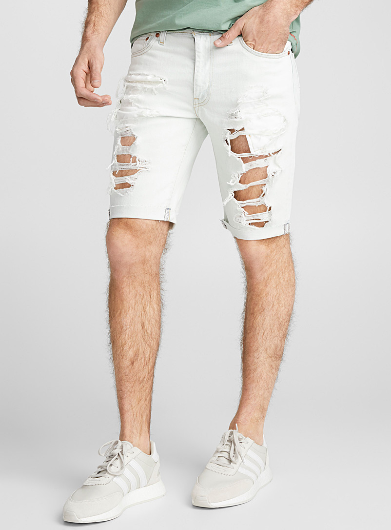 511 distressed bleached denim Bermudas - Bermudas - Baby Blue