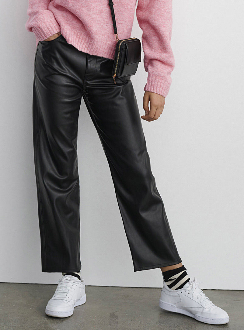 Faux-leather Ribcage pant