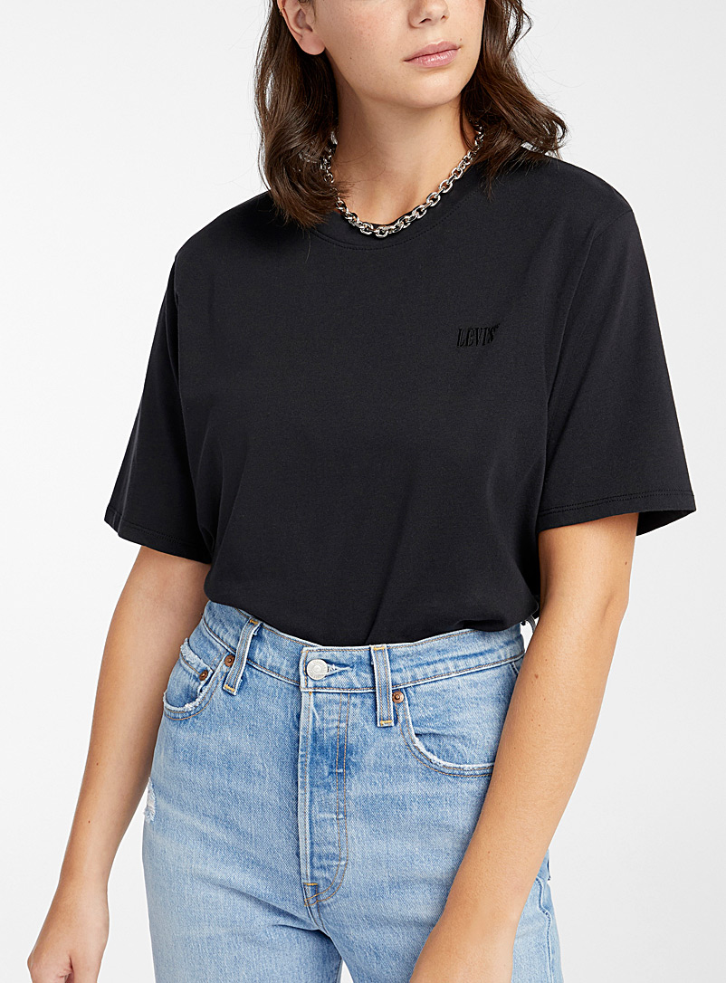Levi's Oxford Monochrome embroidery T-shirt for women