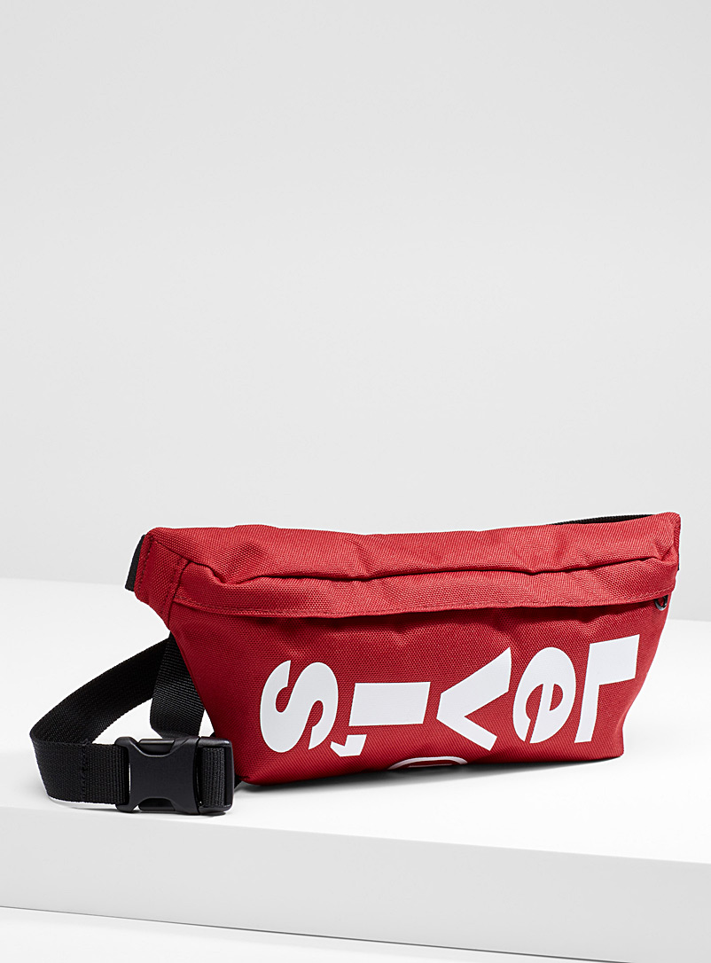 Levi's Red Mega logo belt bag for men