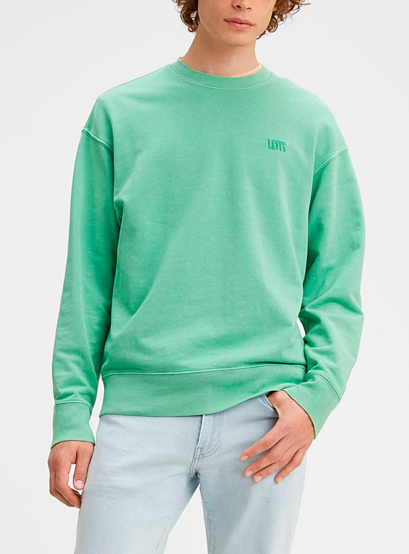 Levi's Kelly Green Faded pastel sweatshirt for men