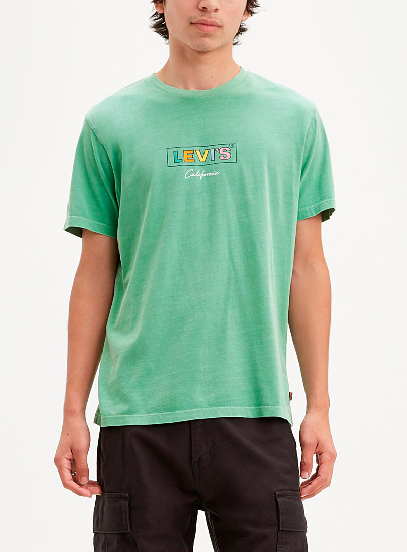 Levi's Kelly Green Pastel 80 logo T-shirt for men