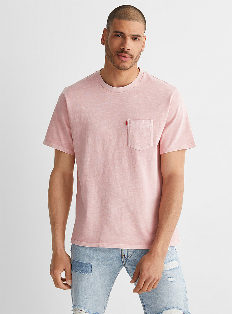Levi's Pink Faded T-shirt for men