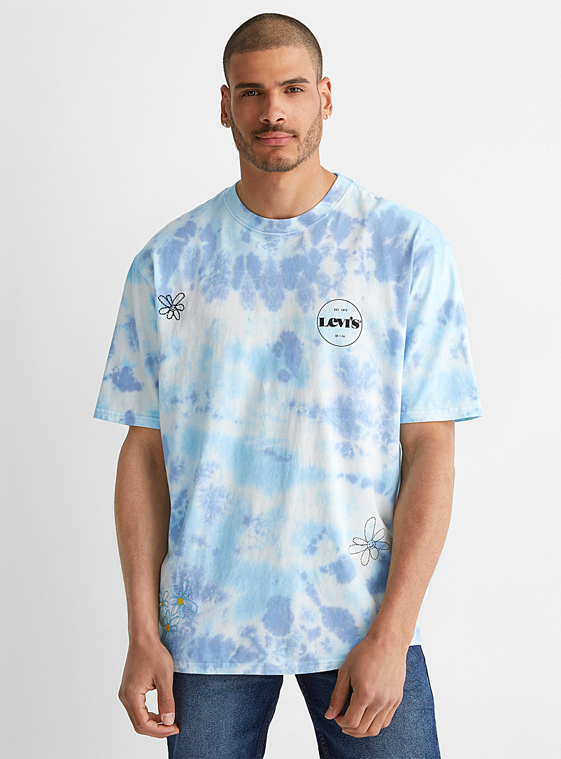 Levi's Blue '70s tie-dye T-shirt for men
