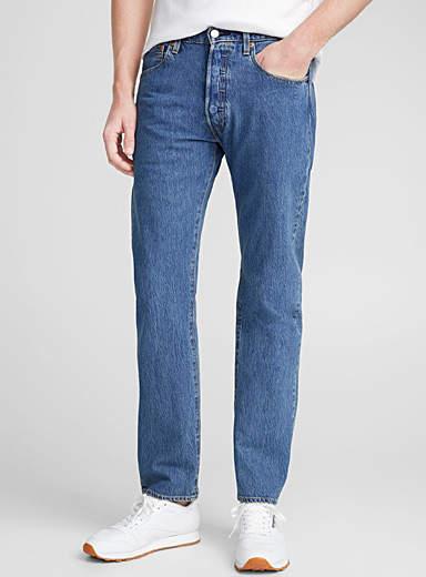 Stone-washed 501 jean  Straight fit