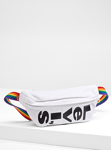 Rainbow belt waist bag