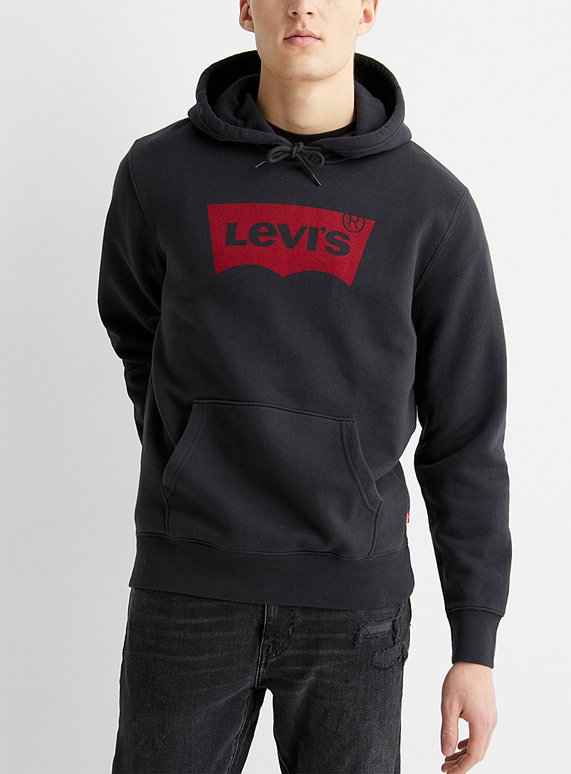 Levi's Black Original logo hoodie for men