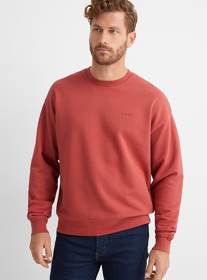 Levi's Ruby Red Embroidered logo sweatshirt for men