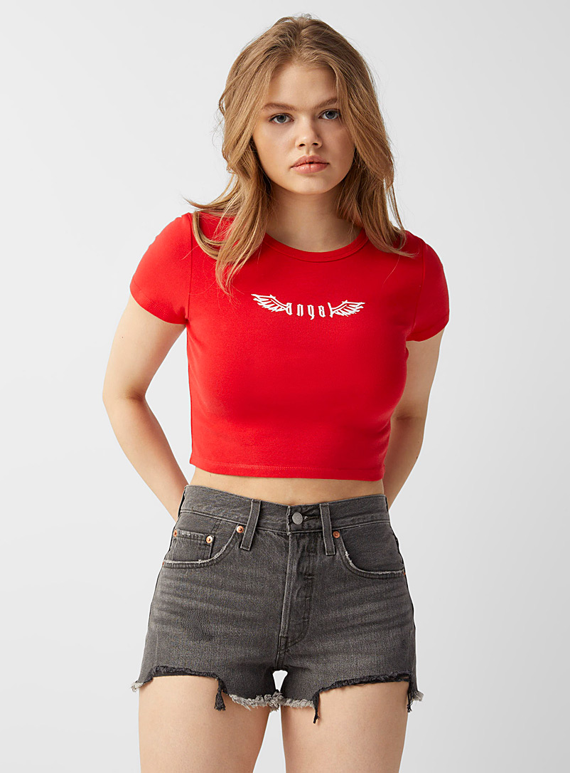 Levi's Oxford Distressed grey 501 short for women