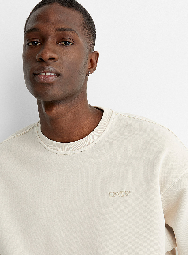 Levi's Sand Faded sand sweatshirt for men