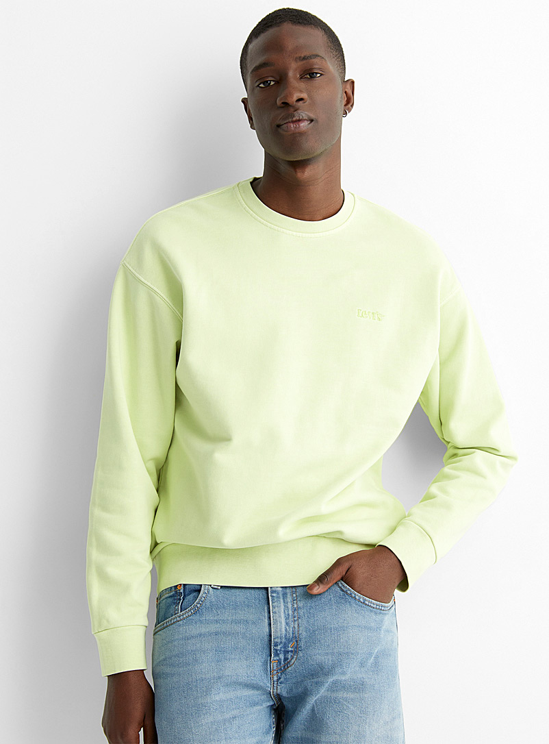 Levi's Lime Green Faded sand sweatshirt for men