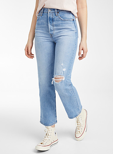 Ribcage light blue straight jean