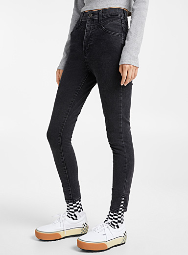 Le skinny taille extrahaute cheville noir