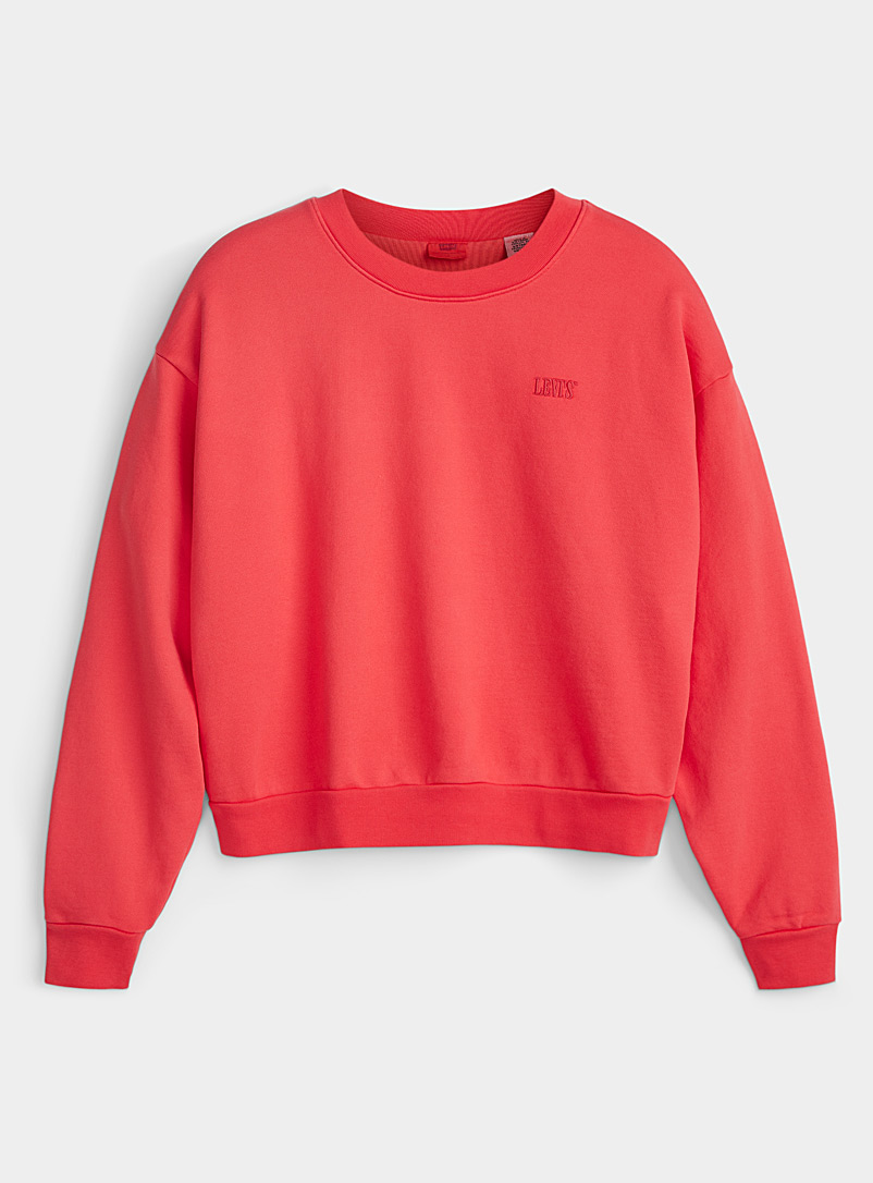 Levi's Pink Monochrome embroidery sweatshirt for women