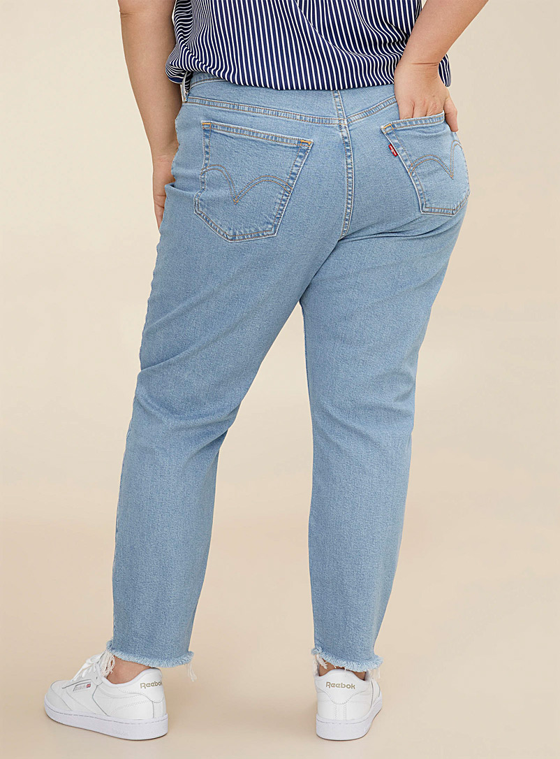 Levi's Slate Blue Wedgie high-rise jean Plus size for women