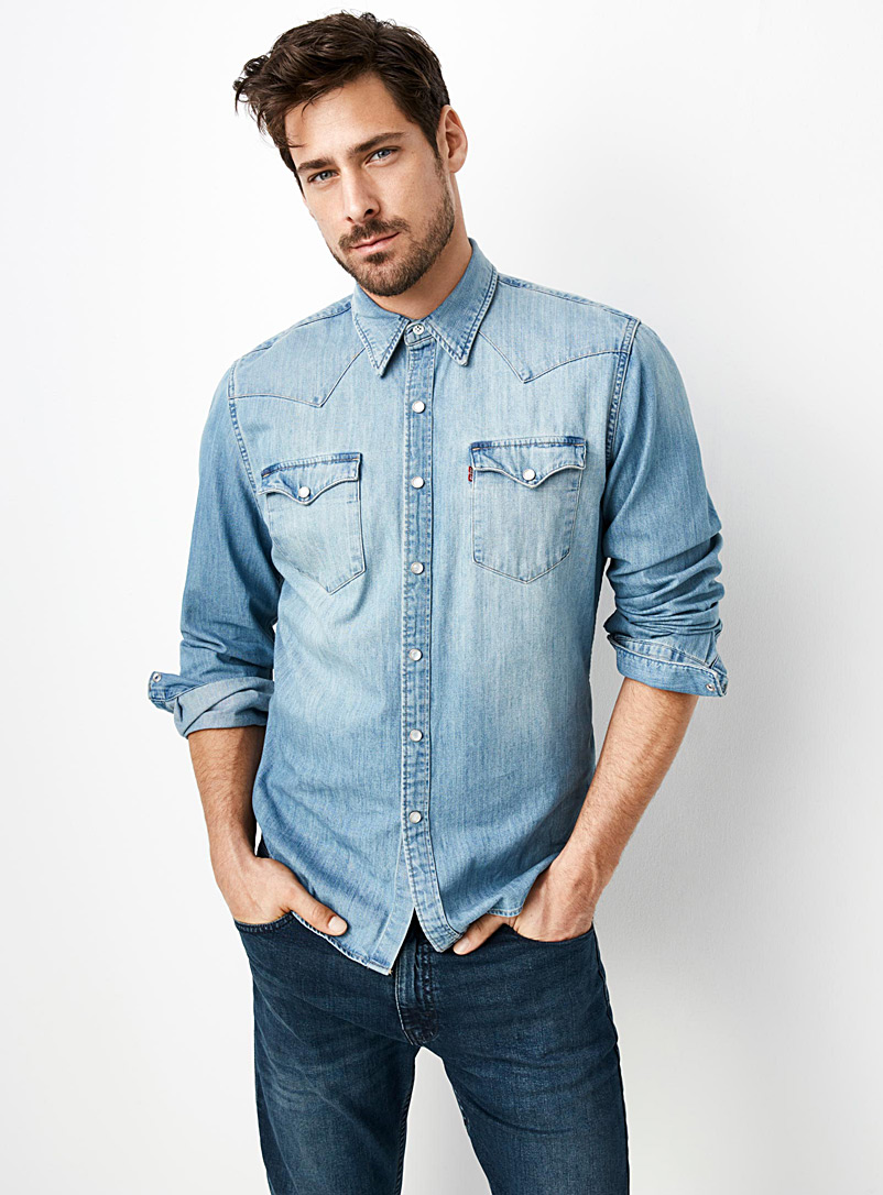 6d297d1429 Authentic Western denim shirt Semi-tailored fit