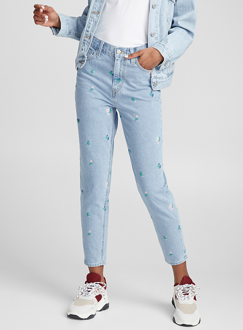 751339b502f Embroidered flower mom jean | Levi's | | Simons
