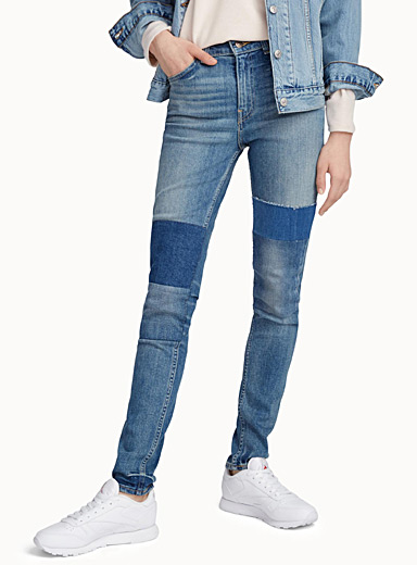 Patchwork 721 high-rise skinny jean