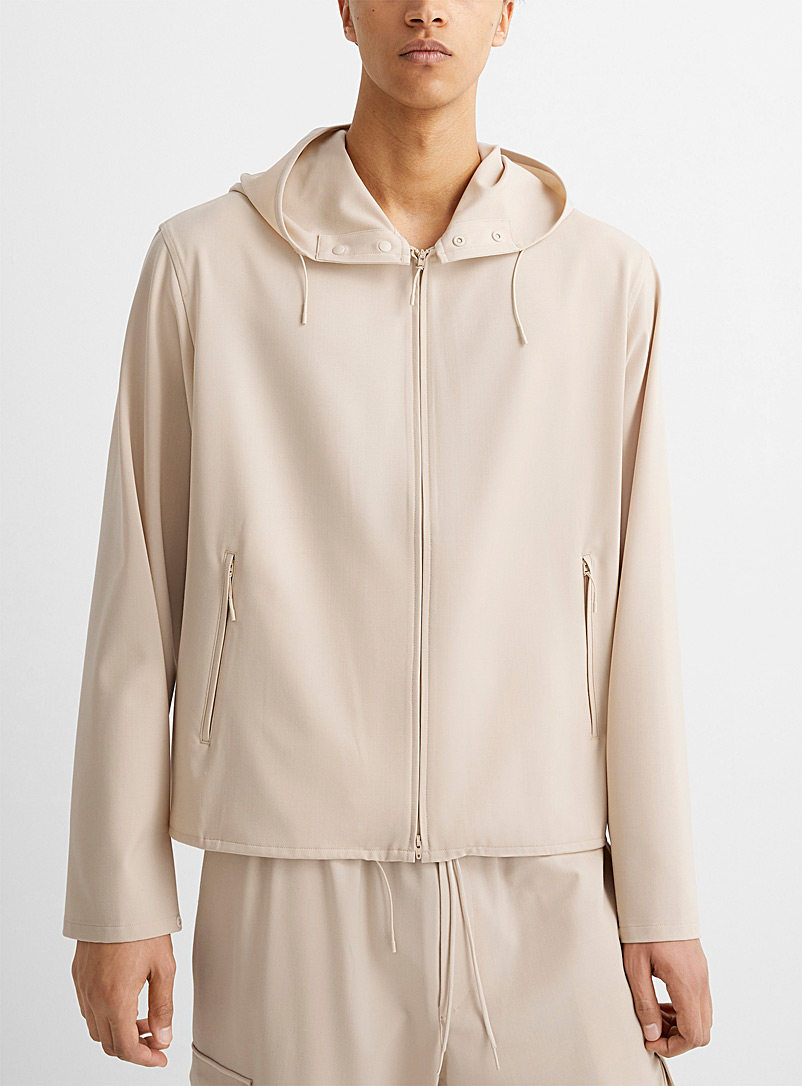 Y-3 Adidas Cream Beige Wool windbreaker for men