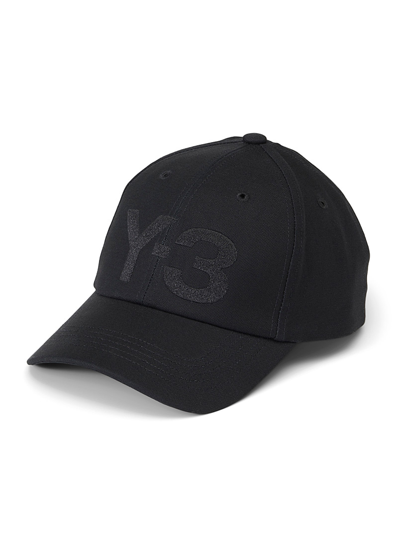 Y-3 Adidas Black Black Y-3 logo cap for men