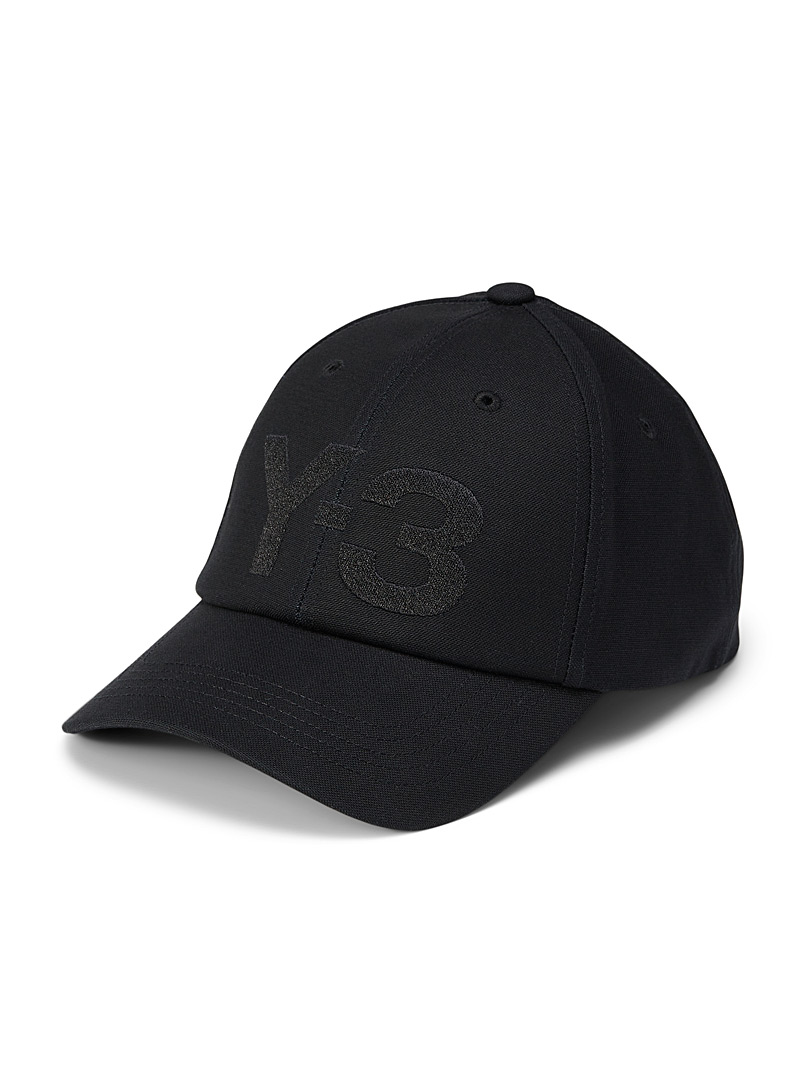 Y-3 Adidas Black Embroidered Y-3 baseball cap for men