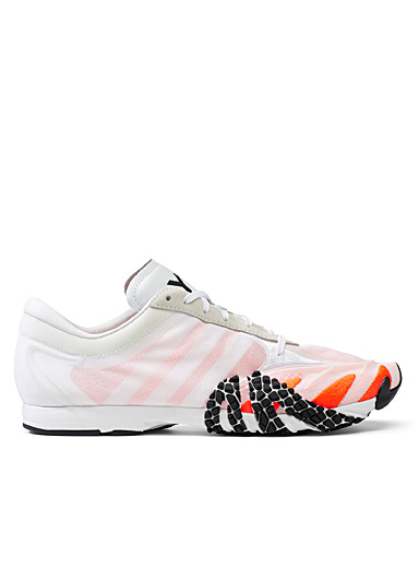 Y-3 Adidas Patterned White Rehito sneakers for men