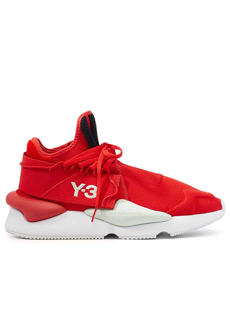 Kaiwa knit sneakers - Y-3 - Patterned Red