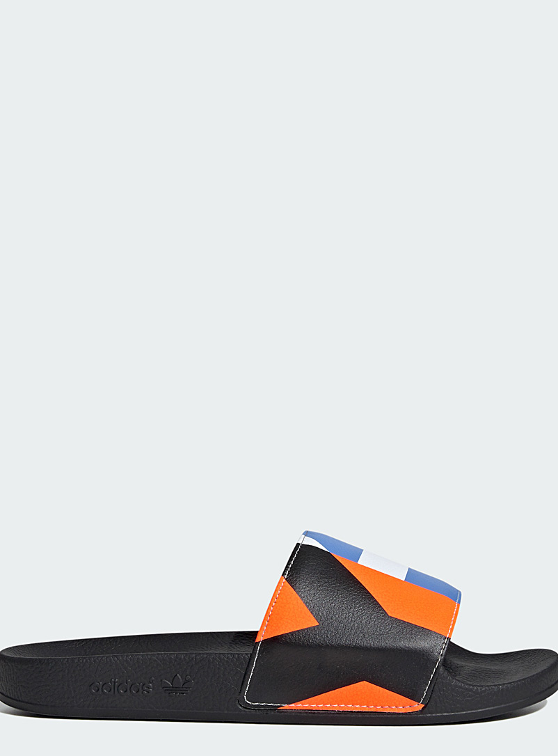 Y-3 Adidas Black Adilette slides for men