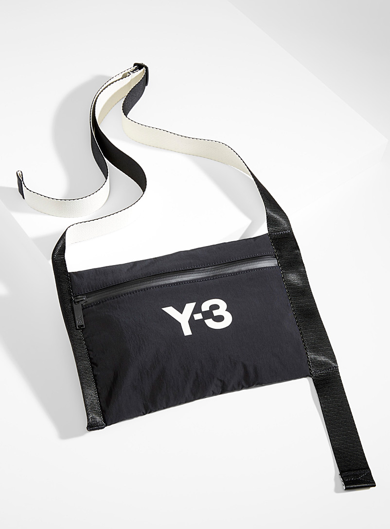 Y-3 Adidas Black CH3 shoulder bag for men