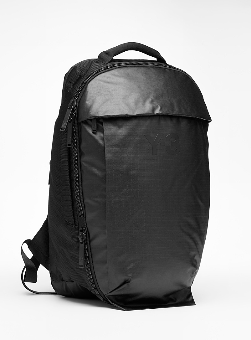 Y-3 Adidas Black Y-3 backpack for men