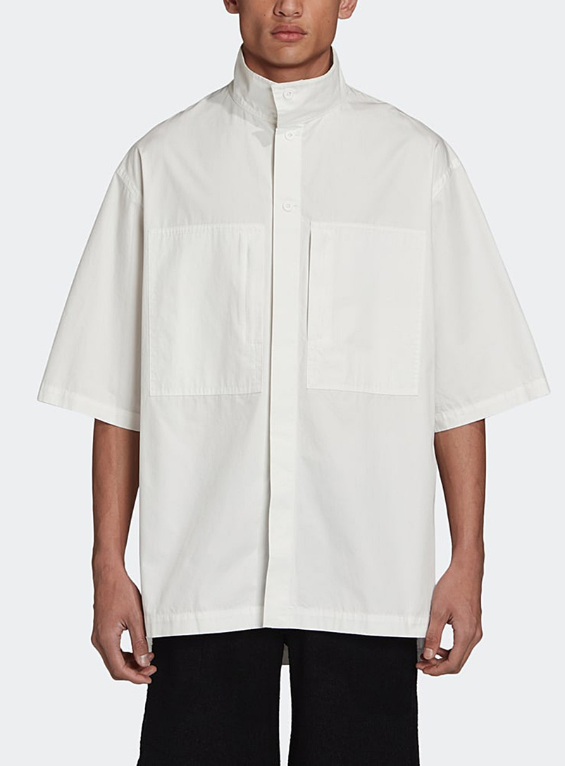 Y-3 Adidas White Heavy cotton shirt for men