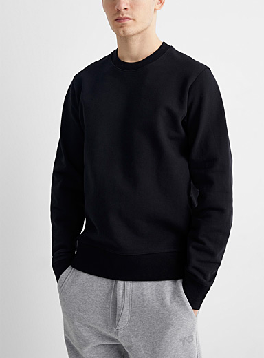 Tone-on-tone logo back sweatshirt