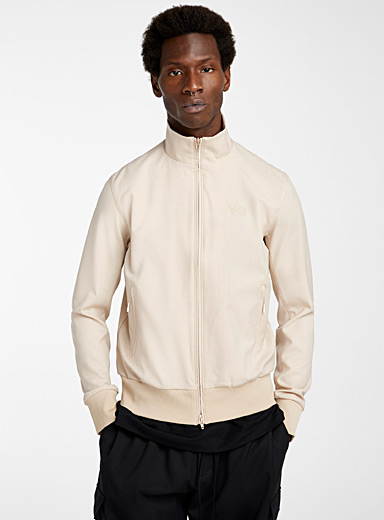 Y-3 Adidas Khaki Signature classic track jacket for men