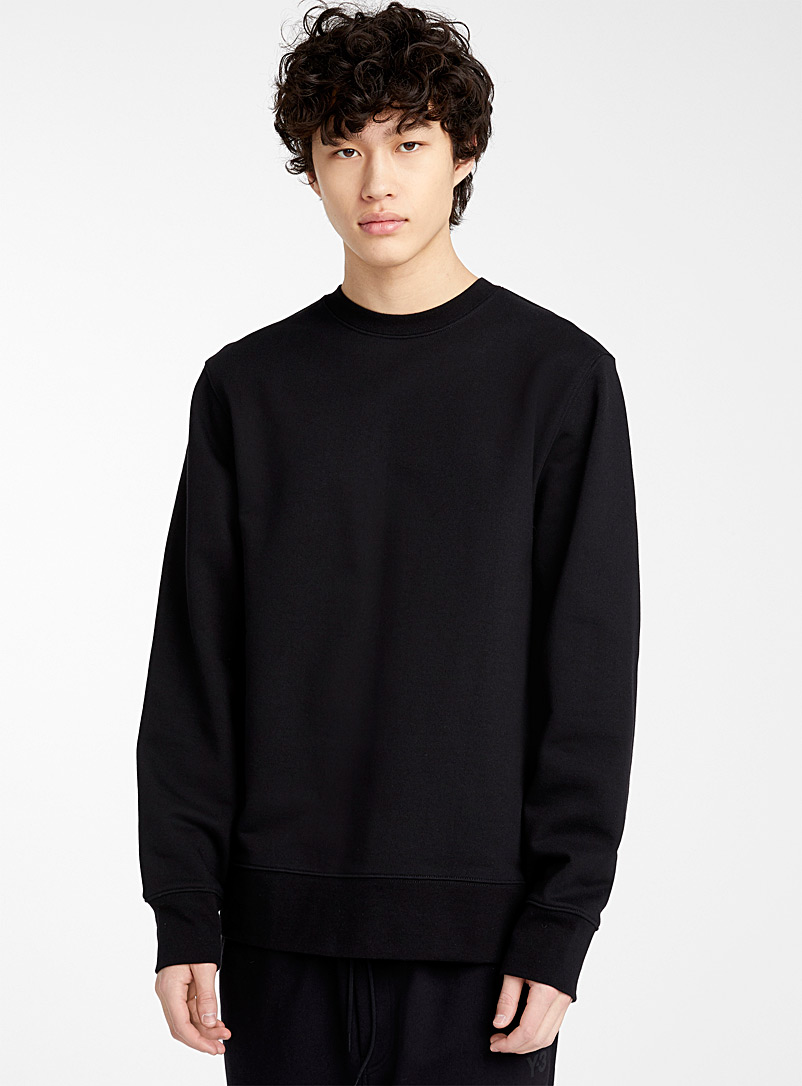 Y-3 Adidas Black Tone-on-tone logo sweatshirt for men