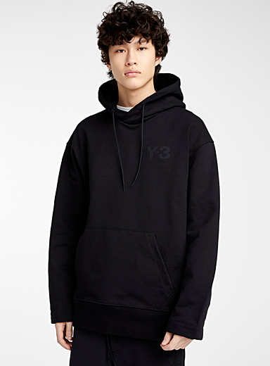 Y-3 Adidas Black Hooded sweatshirt for men