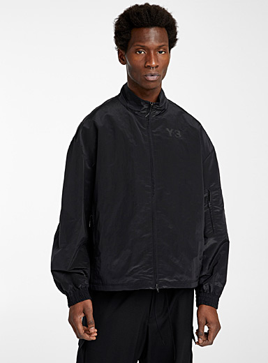 Y-3 Adidas Black Subtle signature jacket for men