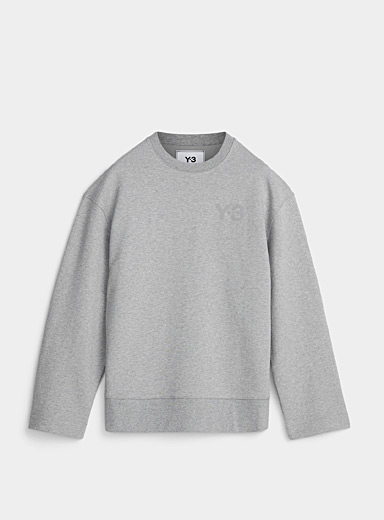 Y-3 Adidas Grey Signature heather sweatshirt for men