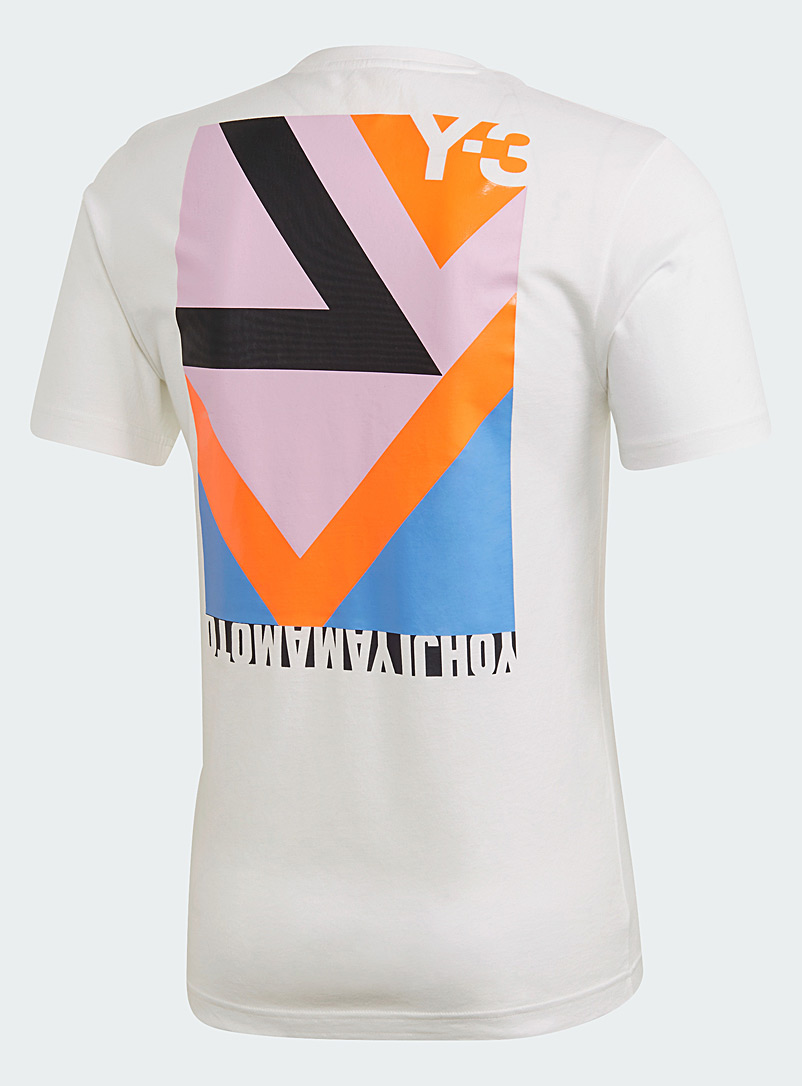 Y-3 Adidas White Swim T-shirt for men
