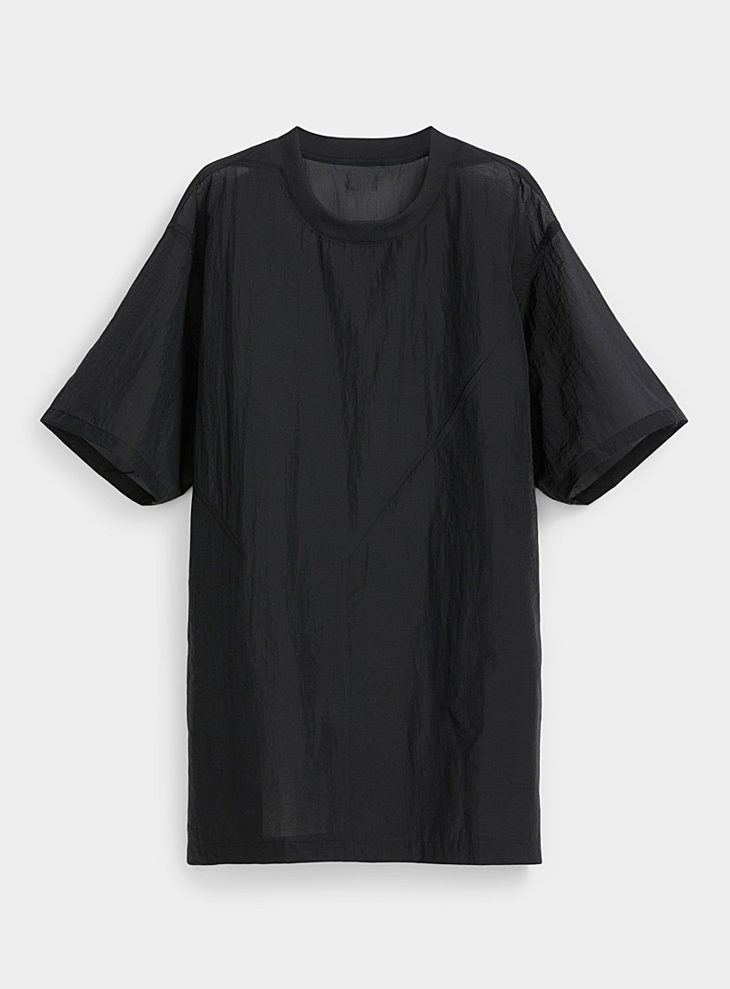Y-3 Adidas Black Micro-mesh T-shirt for men