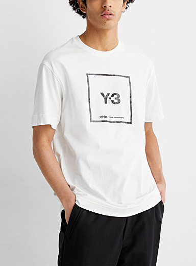 Framed white logo T-shirt