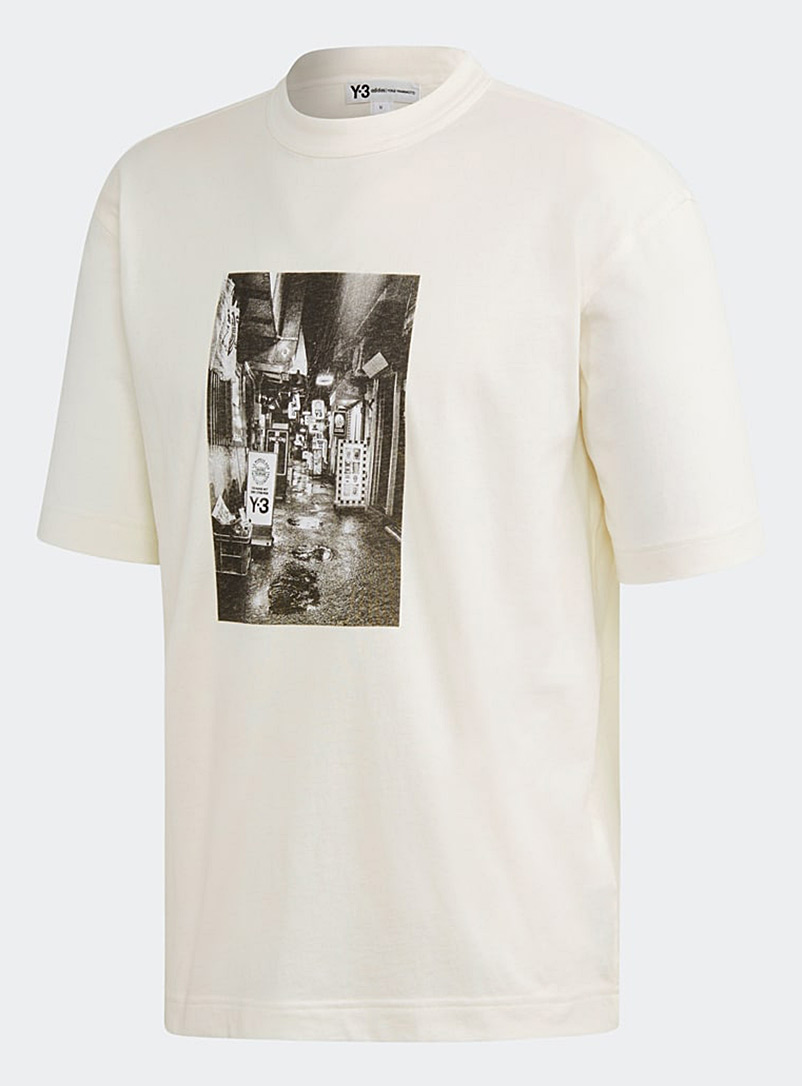 Y-3 Adidas White Alleyway T-shirt for men