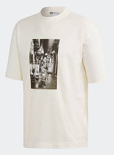 Y-3 Adidas: Le t-shirt Alleyway Blanc pour homme