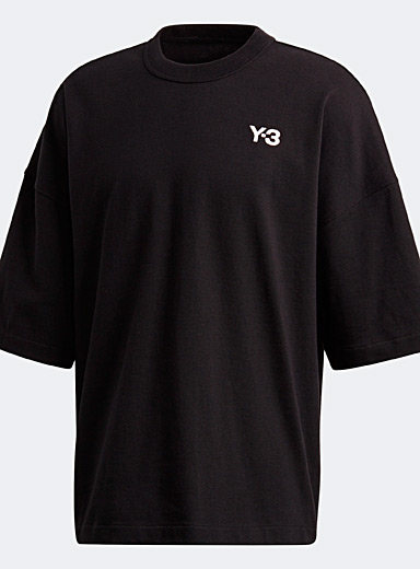 Y-3 Adidas Black Heavy Y-3 T-shirt for men