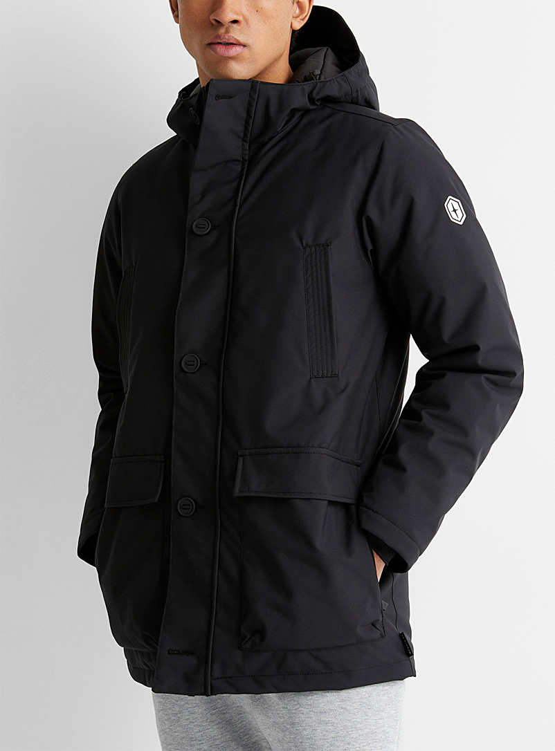 Quartz Co. Black Belfort parka for men